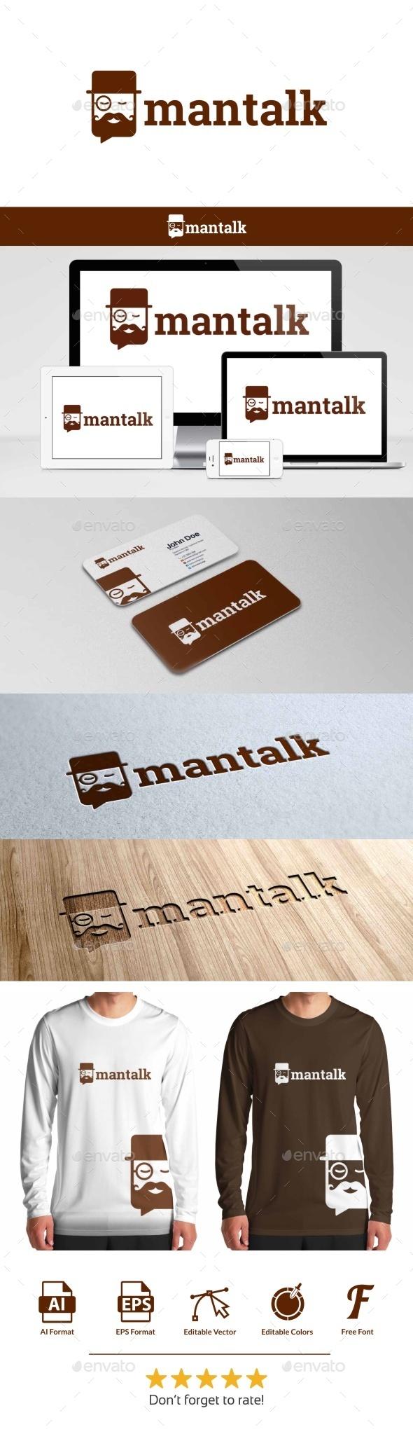 Man Talk Logo - Humans Logo Templates