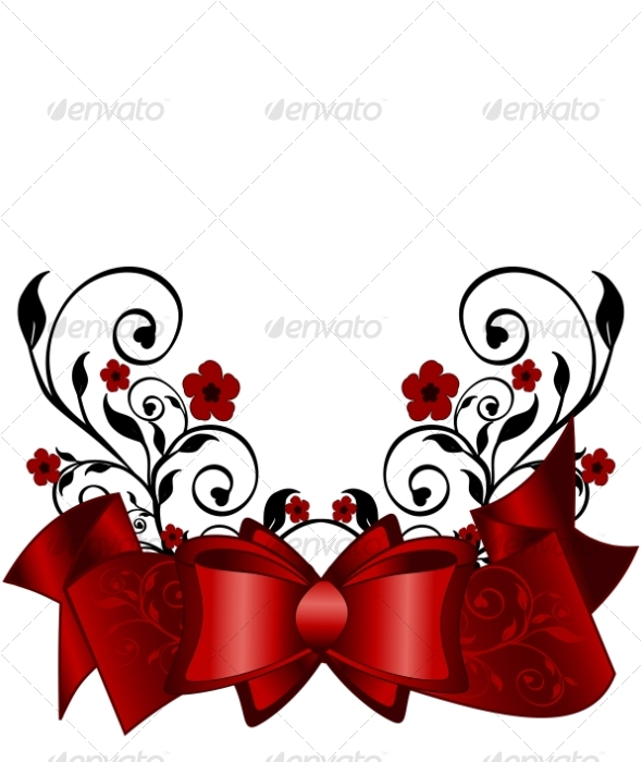 Holiday Background - Flourishes / Swirls Decorative