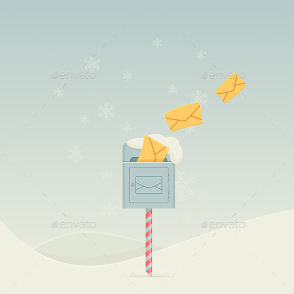 Snowy Letterbox - Objects Vectors