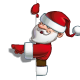 Smilling Santa - Pointing at a Blank Label - GraphicRiver Item for Sale