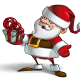Smilling Santa - Holding a Present - GraphicRiver Item for Sale