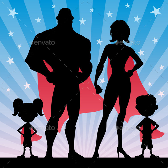 Superhero Family - People Characters