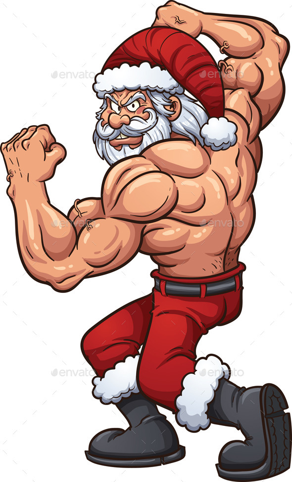 Strong Santa - Christmas Seasons/Holidays