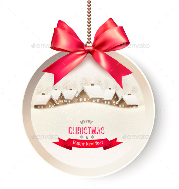 Holiday Gift Card with a Christmas Background  - Christmas Seasons/Holidays