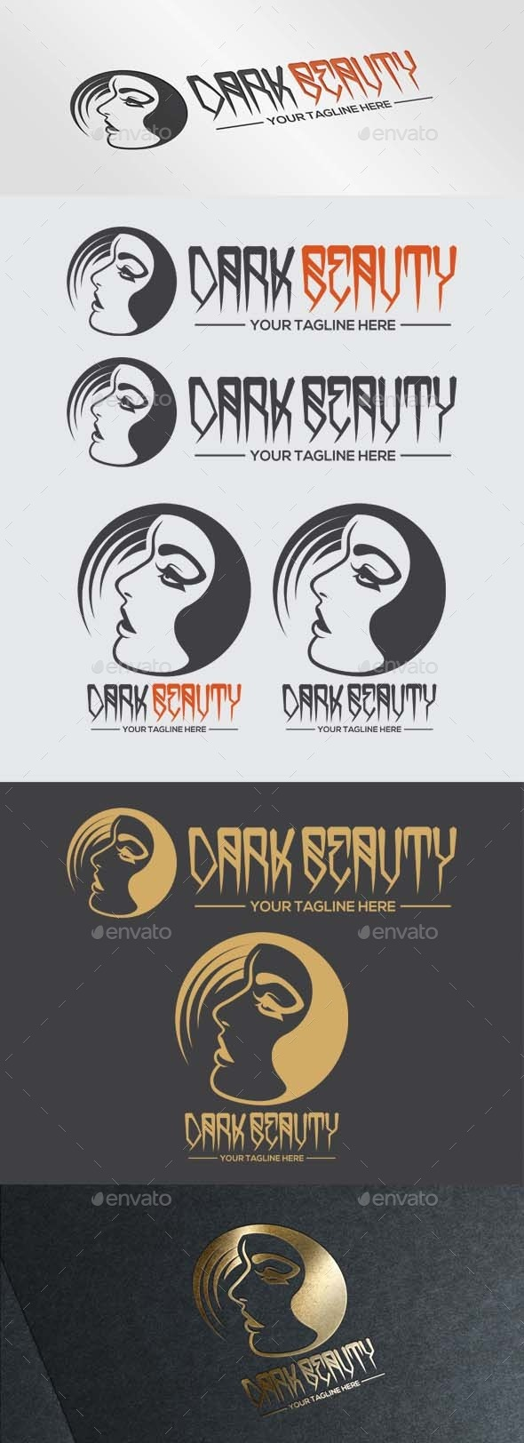 Dark Beauty Logo - Humans Logo Templates