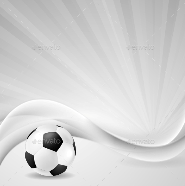 Soccer Background with Abstract Waves - Backgrounds Decorative