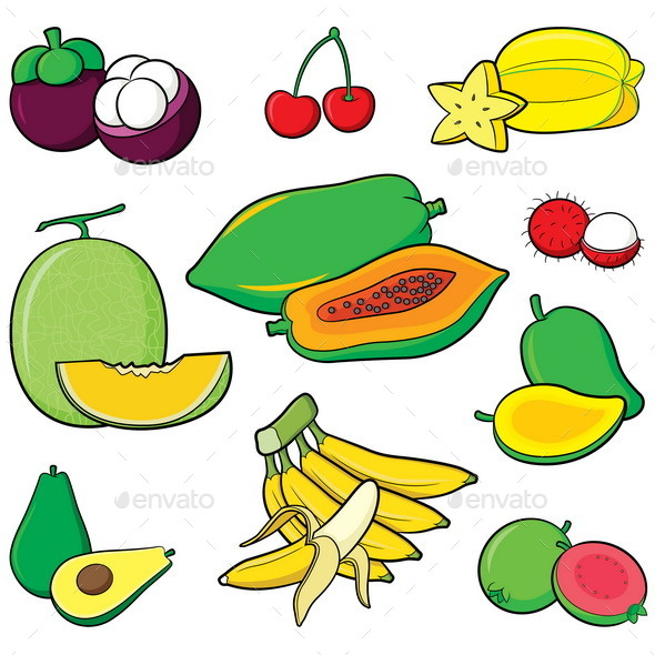 Fruits Set - Food Objects