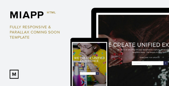 Miapp - Responsive and Parallax Coming Soon Theme