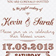 Vintage Wedding Invitation Card - GraphicRiver Item for Sale