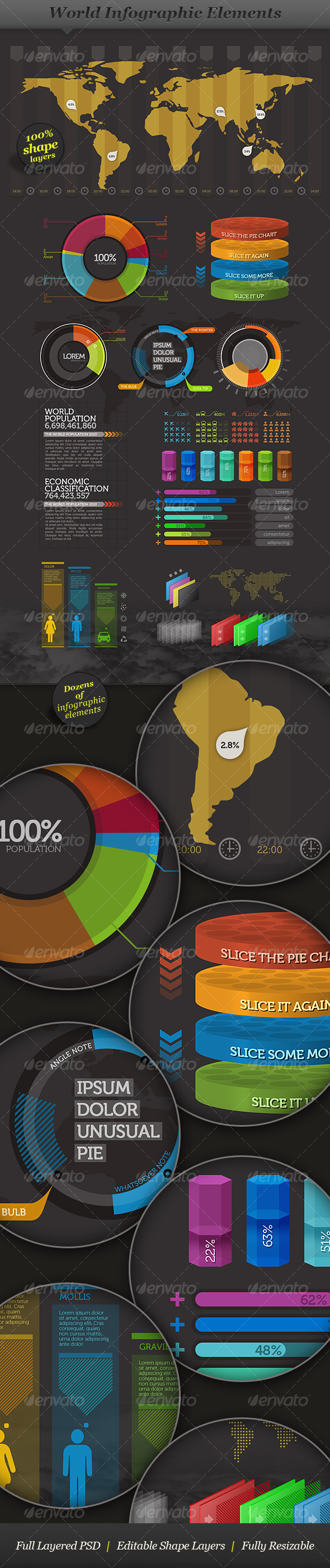 World - Infographic Elements - Visual Information - Infographics