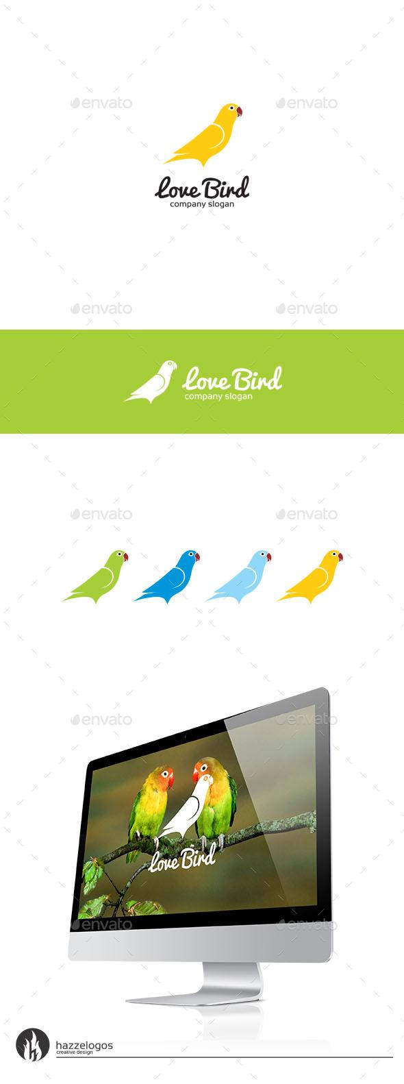 Love Bird Logo - Animals Logo Templates