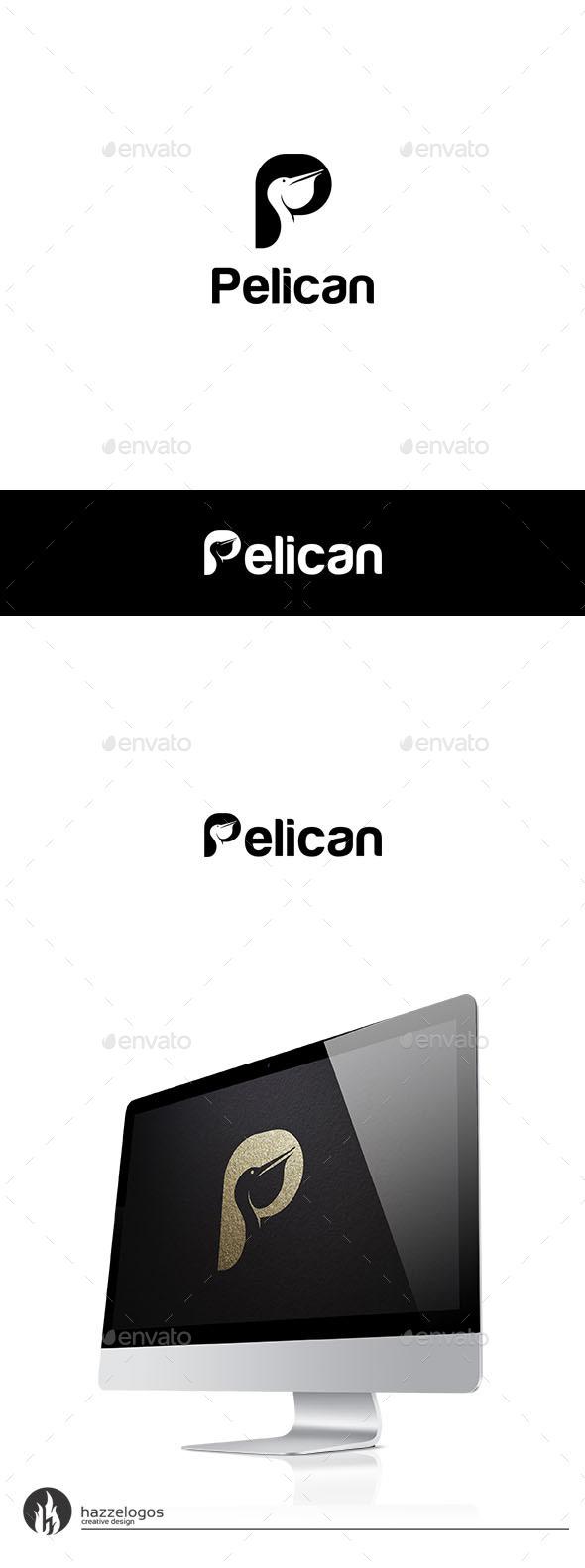 Pelican - Letter P Logo - Letters Logo Templates