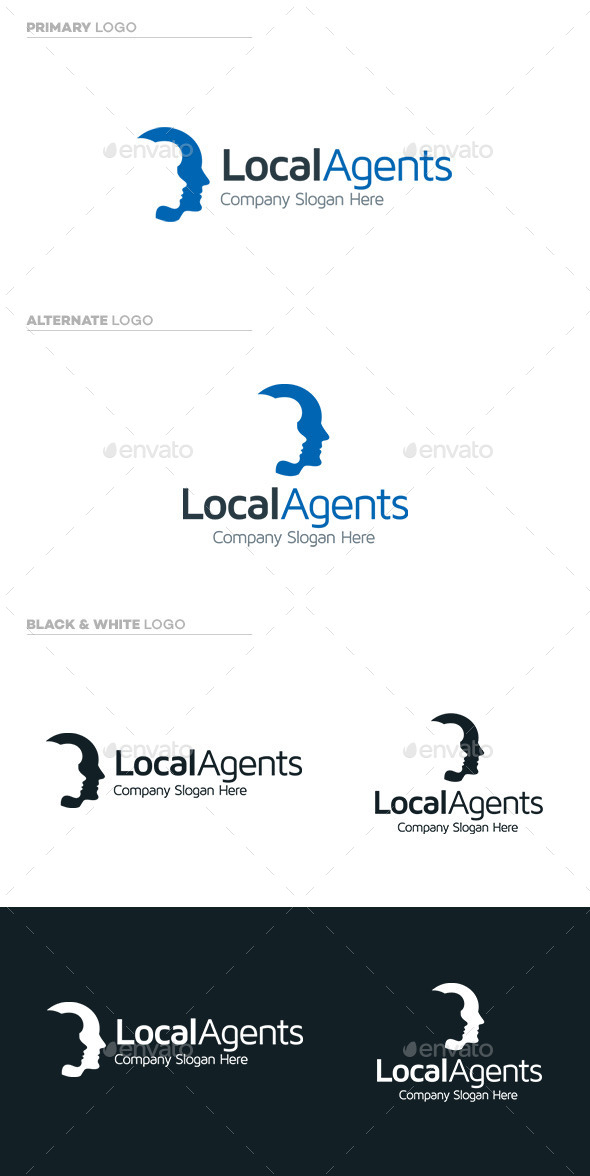 Local Agents - Humans Logo Templates