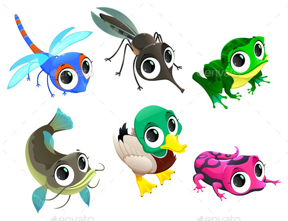 Animals of the Pond - Animals Characters