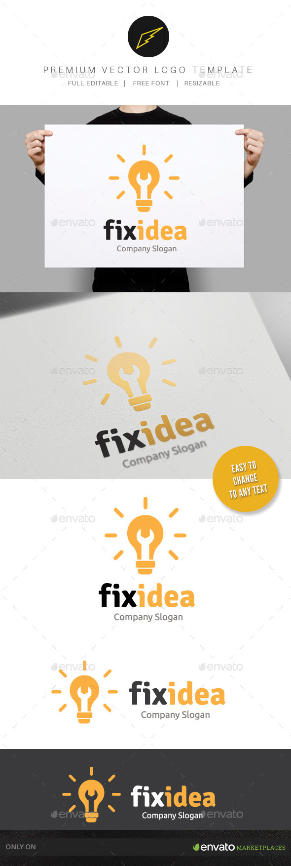 Fix Idea - Objects Logo Templates