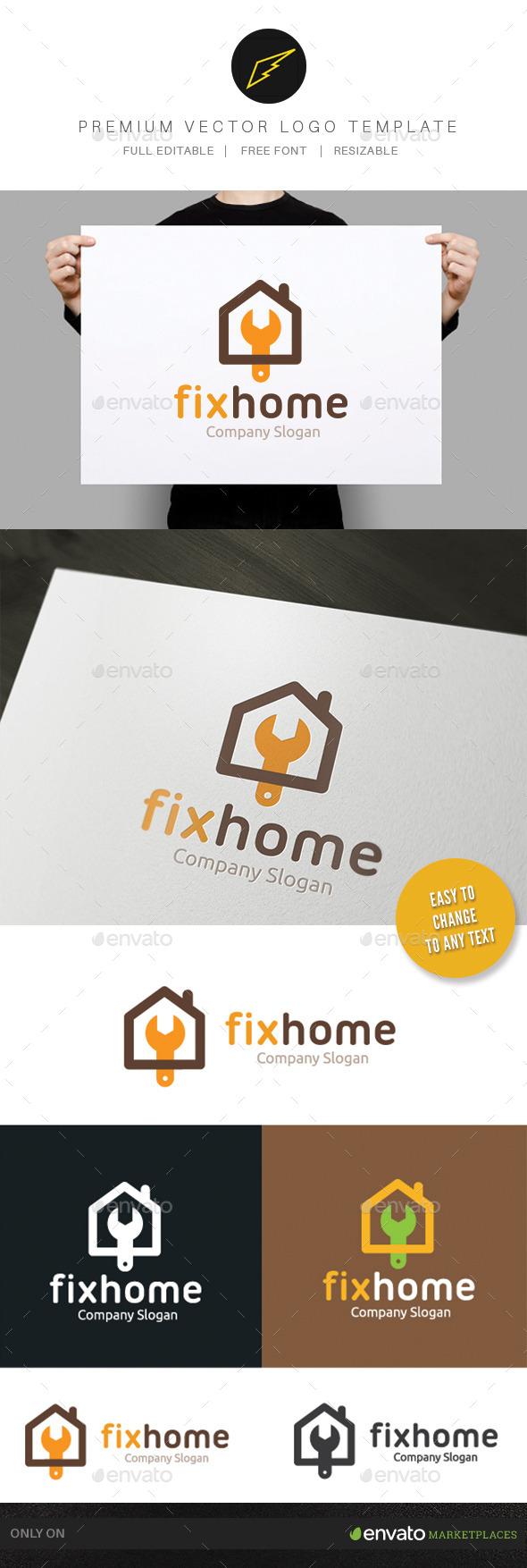 Fix Home - Buildings Logo Templates