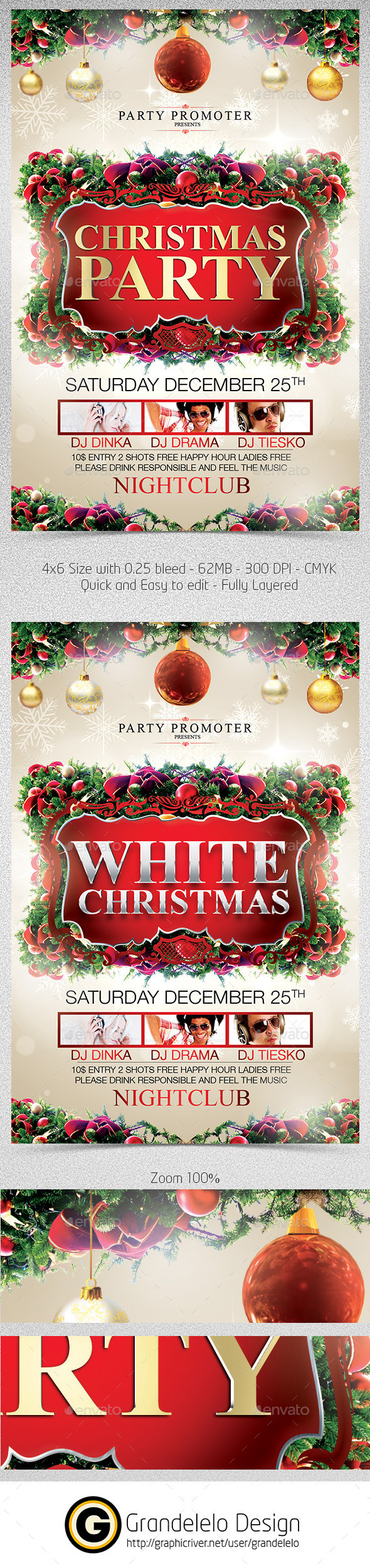 Christmas The Flyer Template - Clubs & Parties Events