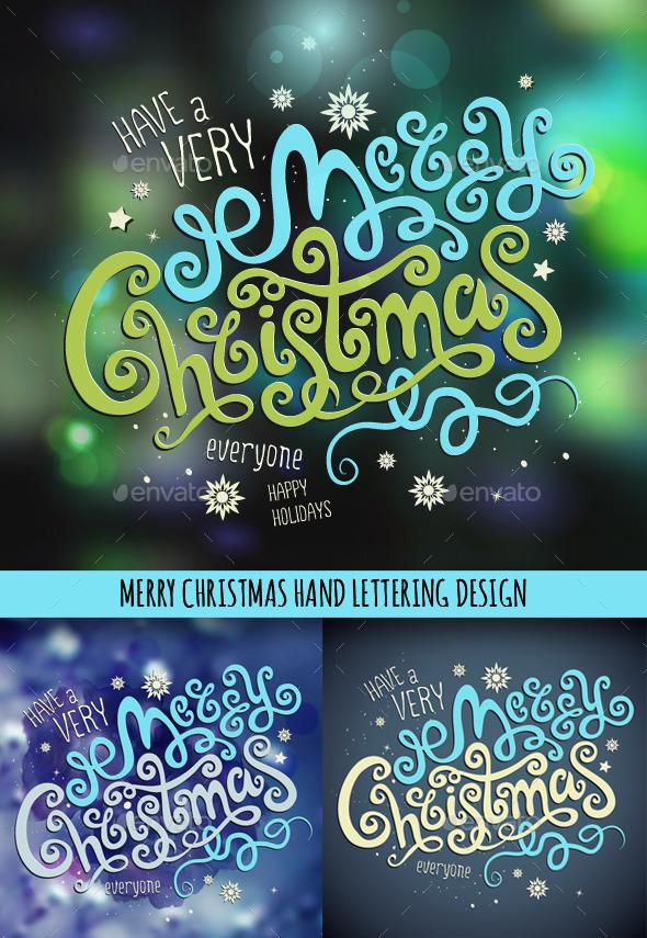 Christmas Hand Lettering Set - Christmas Seasons/Holidays