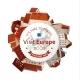 Visit Europe Emblem with City Landscape - GraphicRiver Item for Sale