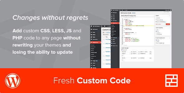 Fresh Custom Code - CSS/JS/PHP - WordPress Plugin - CodeCanyon Item for Sale