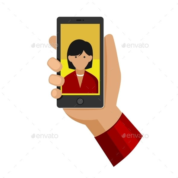 Woman Making Selfie Photo on Phone  - People Characters