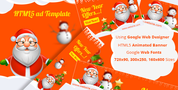 NewYear - HTML5 ad template - CodeCanyon Item for Sale
