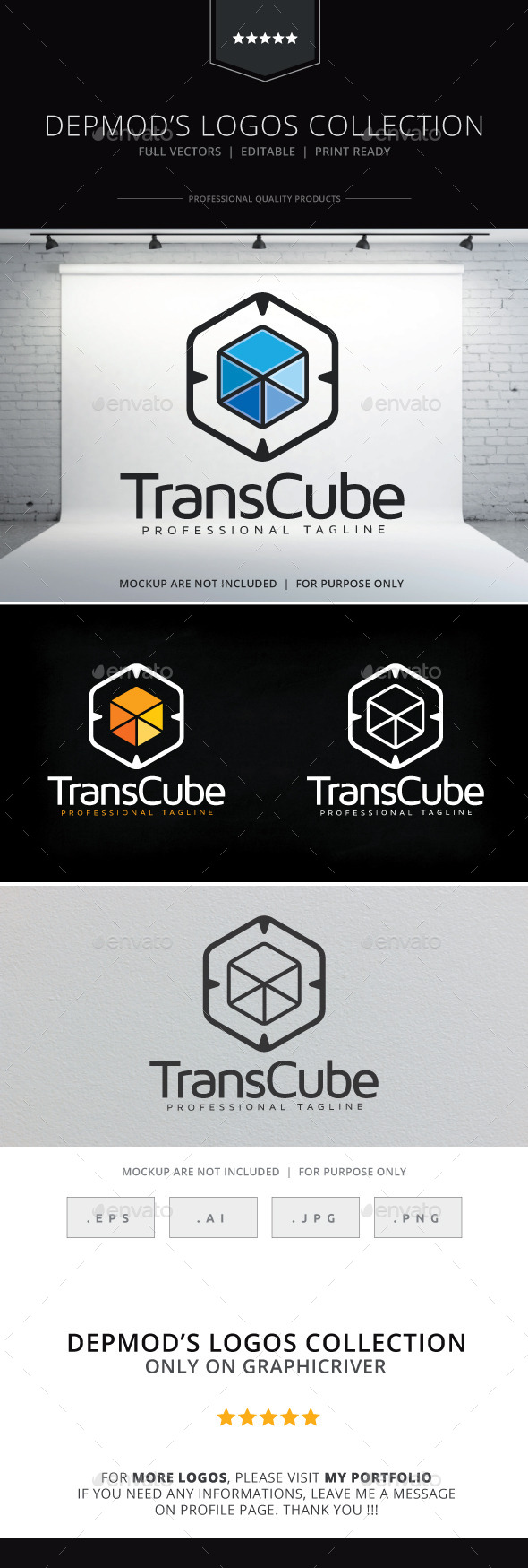 Trans Cube Logo - Objects Logo Templates