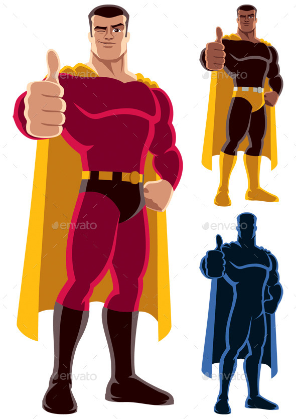 Superhero Approving - People Characters