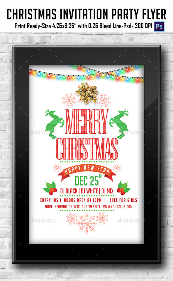 Christmas Invitation / Party Flyer - Clubs & Parties Events
