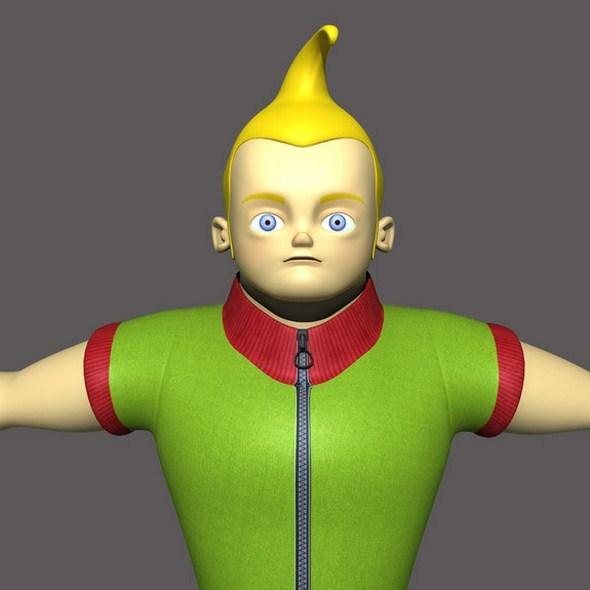 Cartoon Kid 3D Model  - 3DOcean Item for Sale