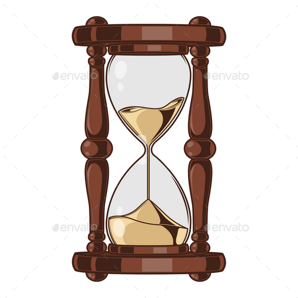 Antique Sand Hourglass - Man-made Objects Objects