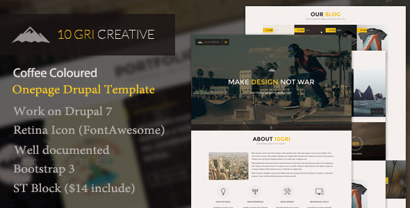10GriCreative – One Page Drupal Theme