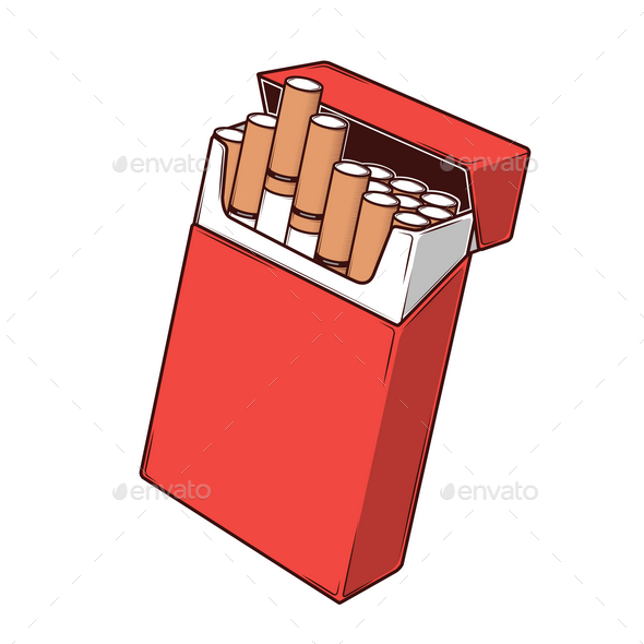 Cigarettes in a Red Packet - Man-made Objects Objects