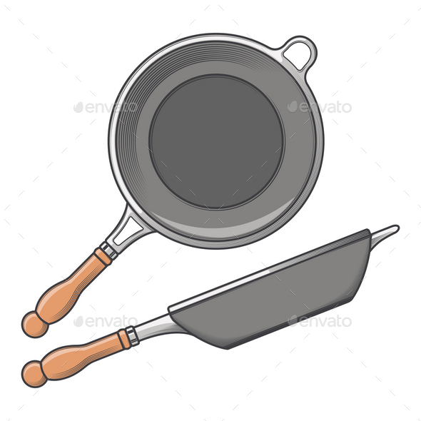 Frying Pans - Man-made Objects Objects
