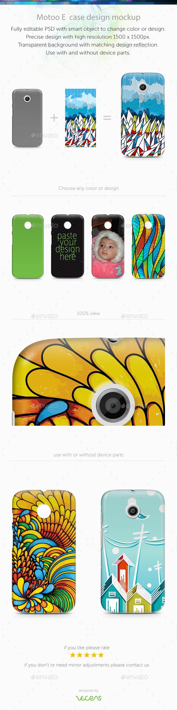 Motoo E Case Design Mockup
