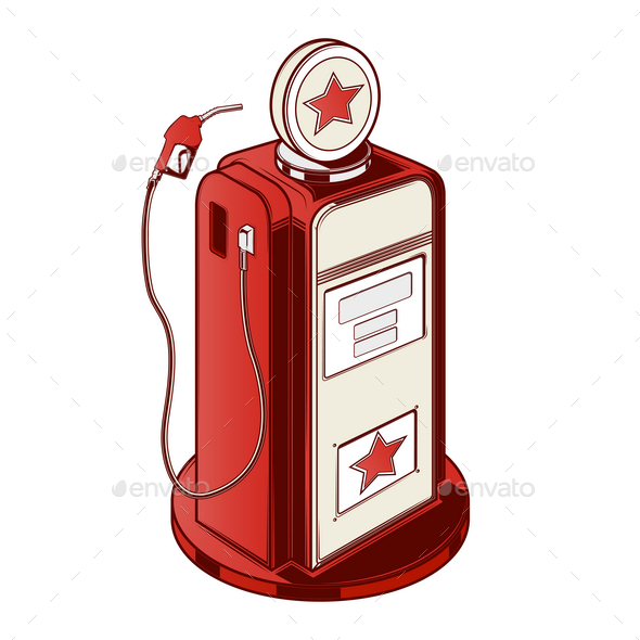 Gasoline Station Pump - Man-made Objects Objects