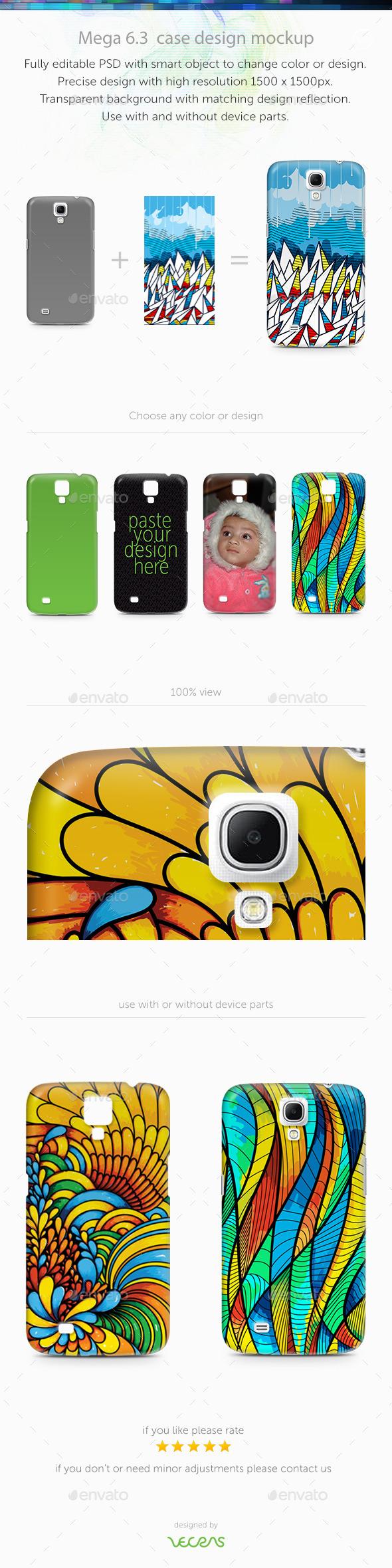 Mega 6.3 Case Design Mockup - Mobile Displays