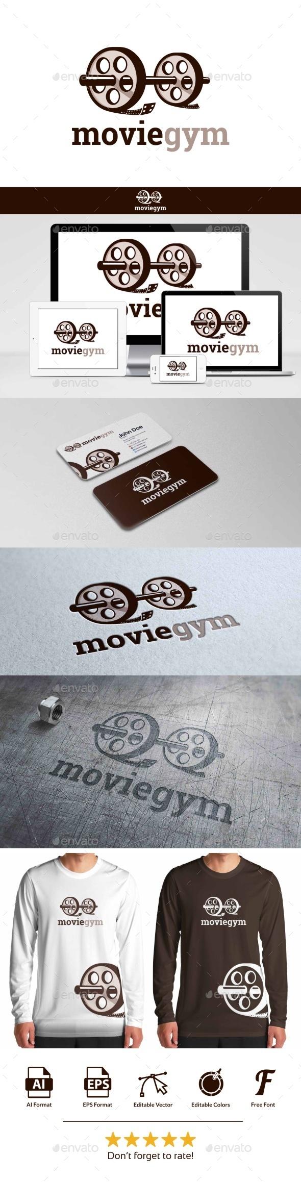 Movie Gym Logo - Objects Logo Templates