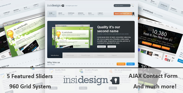 Free Download Insidesign HTML Template Nulled Latest Version