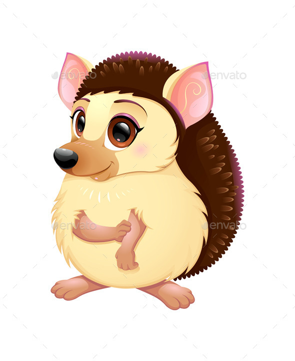 Cute Porcupine - Animals Characters