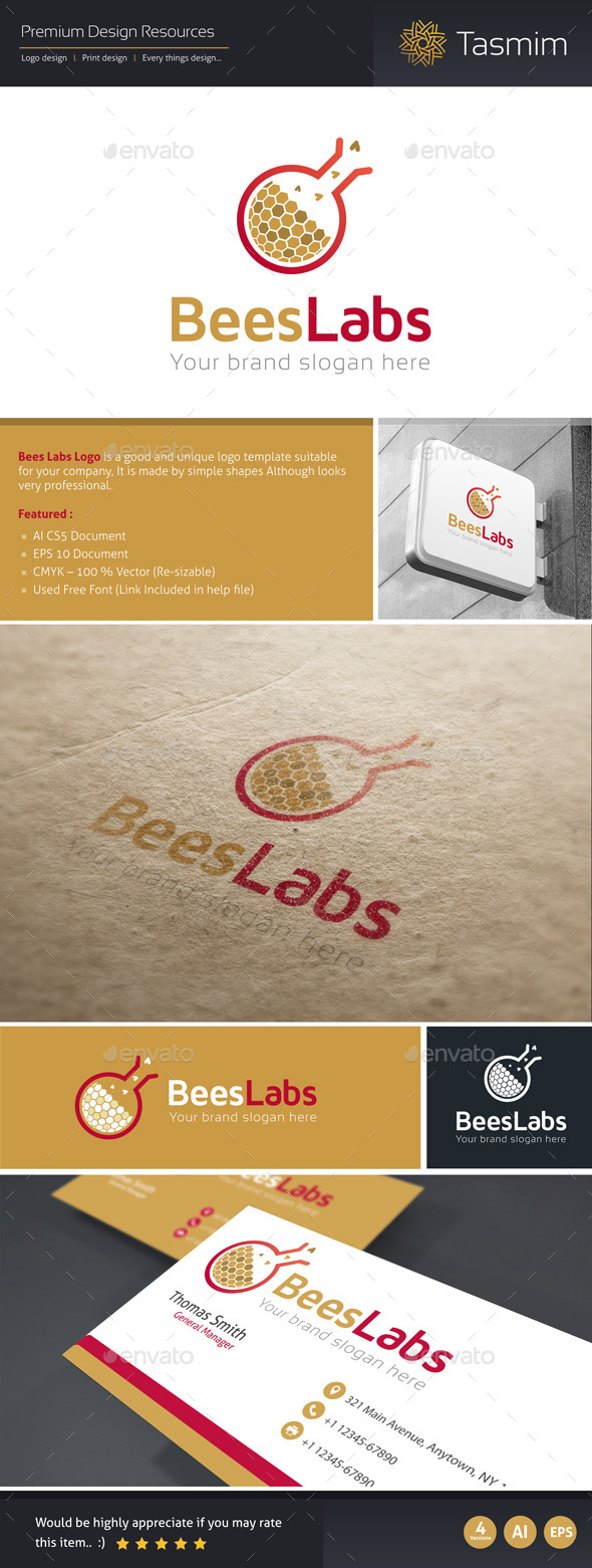 BeesLabs Logo Template - Nature Logo Templates