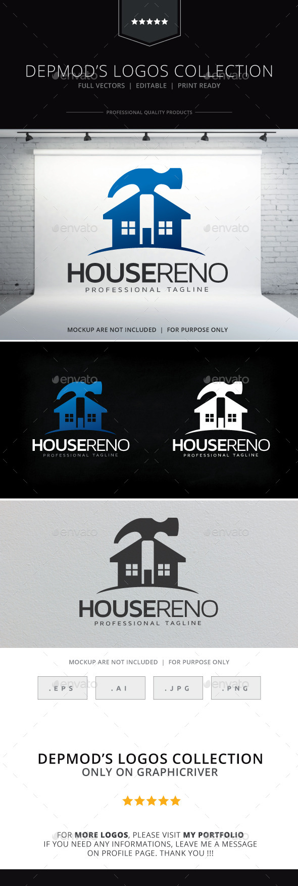 House Reno Logo - Buildings Logo Templates
