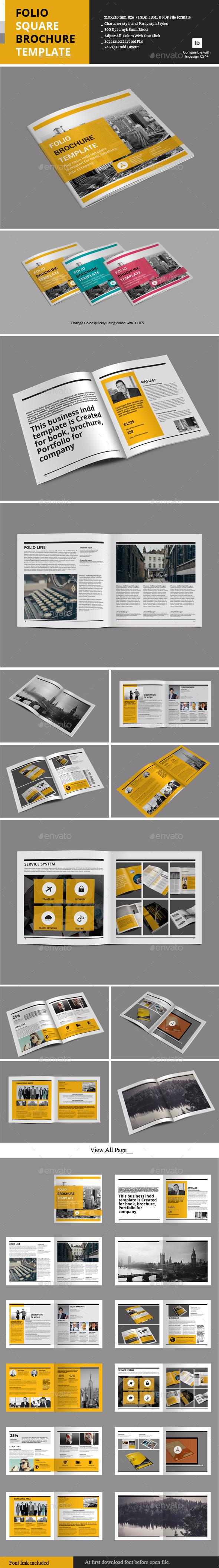 Folio Square Brochure Template - Portfolio Brochures