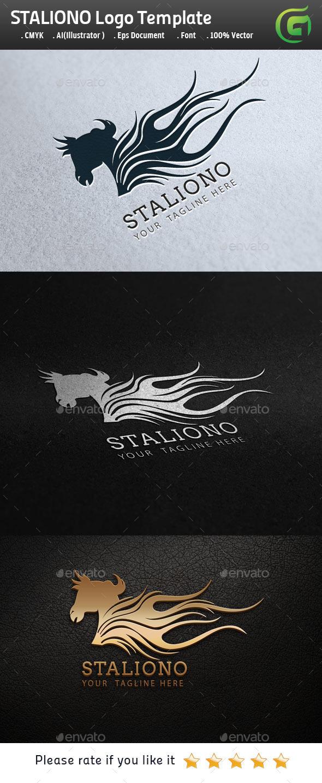 Staliono Horse Logo - Animals Logo Templates