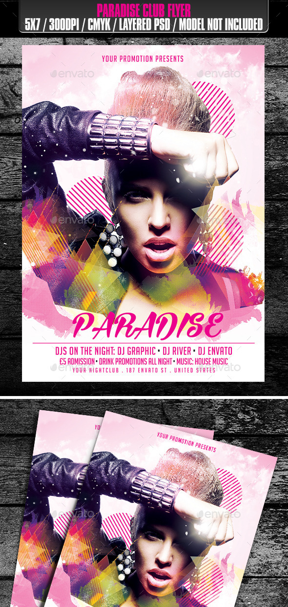 Paradise Club Flyer - Clubs & Parties Events