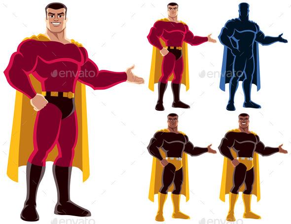 Superhero Presenting - People Characters