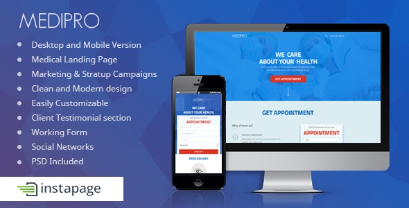 Medipro - Medical Instapage Landing Page - Instapage Marketing