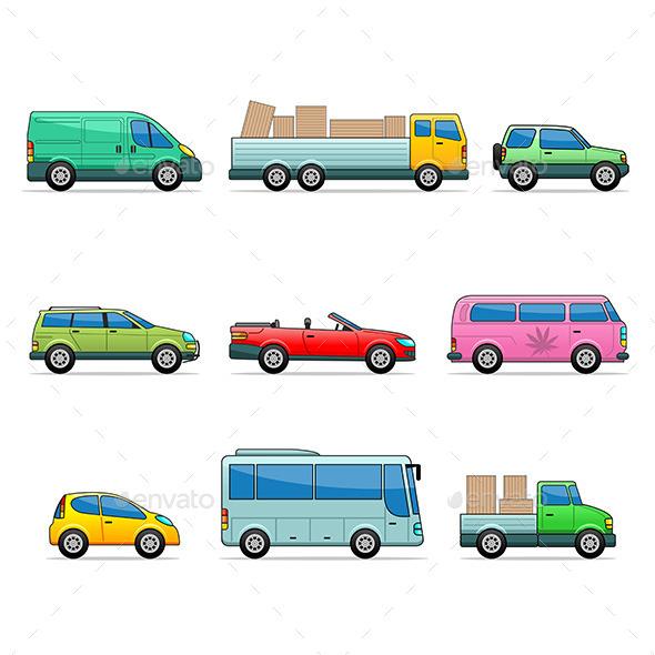 Car Icons - Conceptual Vectors