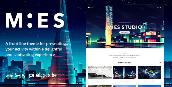 MIES – An Avant-Garde Architecture WordPress Theme