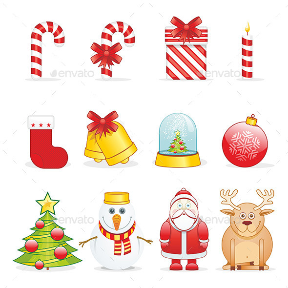 Christmas Icons - New Year Seasons/Holidays